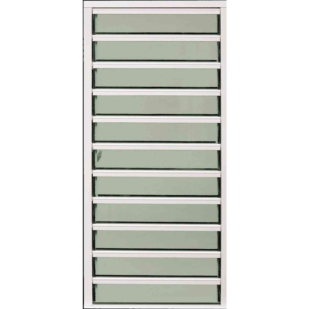30 in. x 54 in. Master View Louver Awning Aluminum Window
