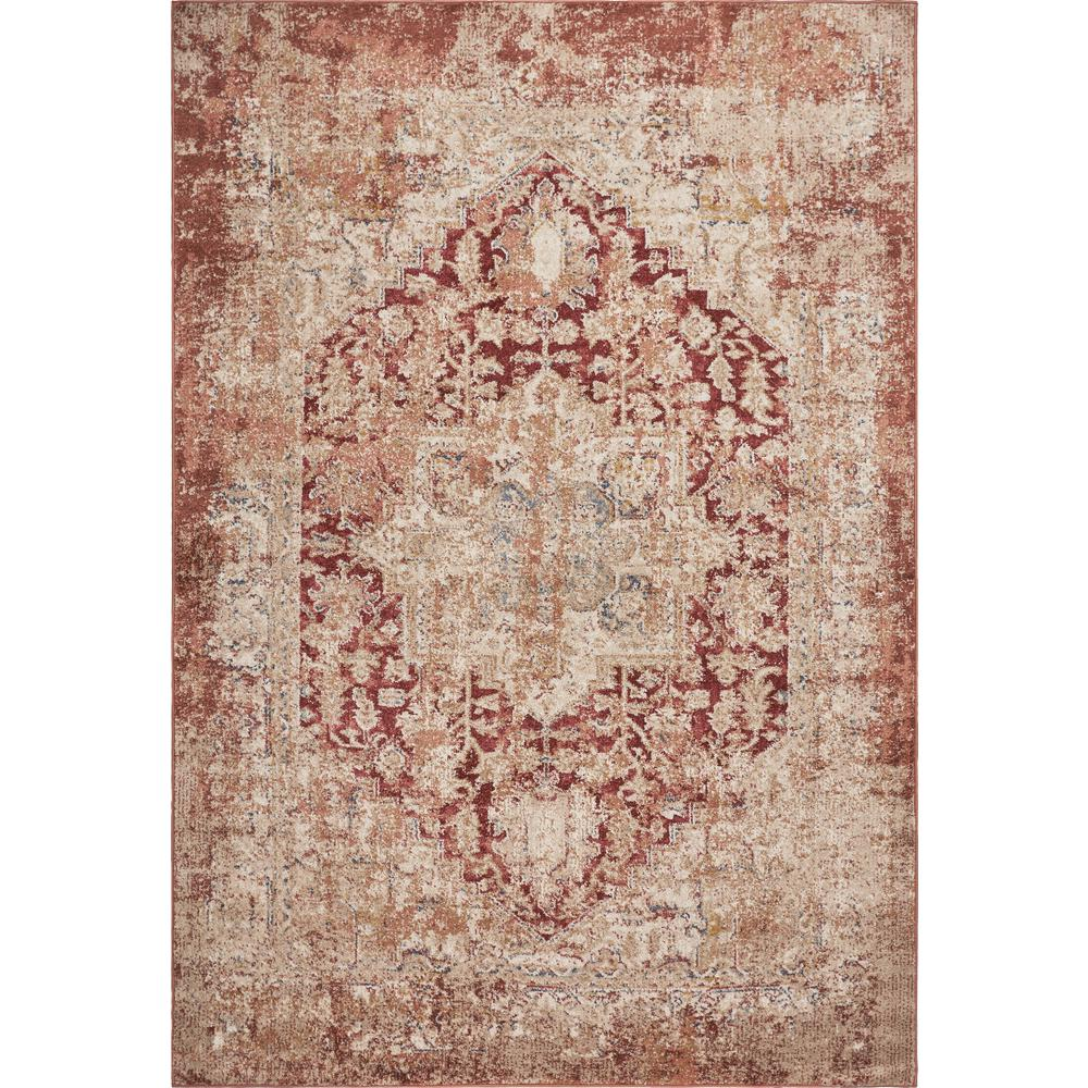 Kas Rugs Manor Spice Jerome 5 ft. x 8 ft. Distressed Area Rug, Spice Red was $171.0 now $94.05 (45.0% off)