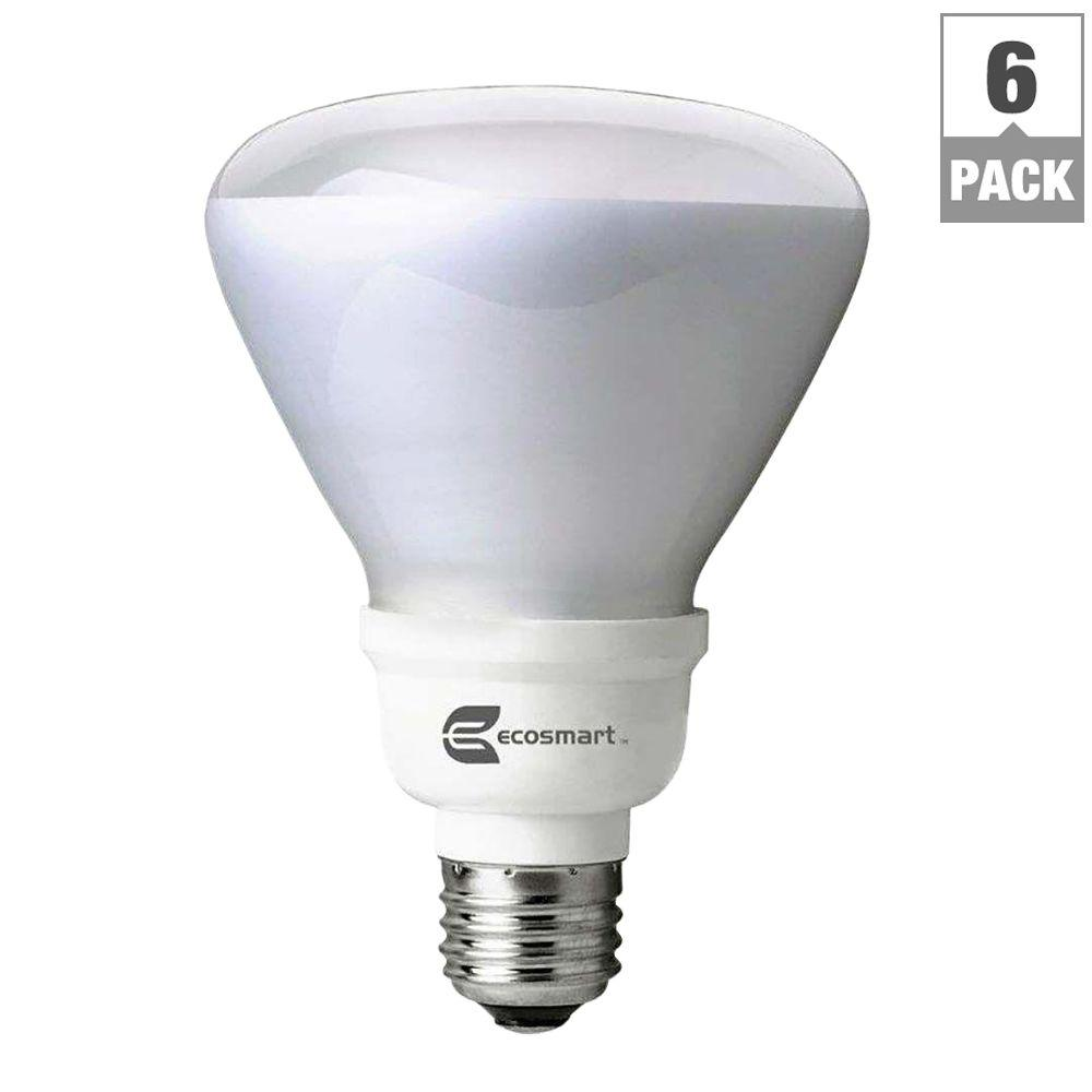 60-Watt Equivalent BR30 CFL Light Bulb, Daylight (6-Pack)