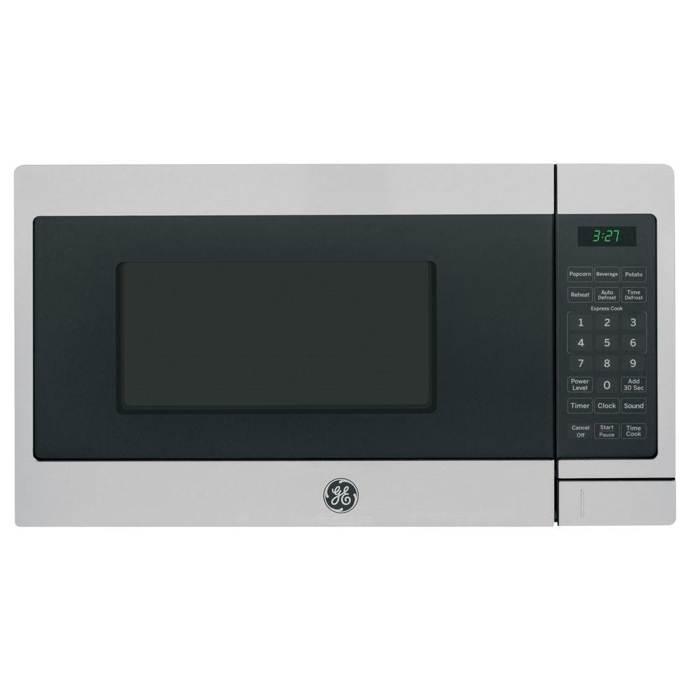 GE 0.7 cu. ft. Small Countertop Microwave in Stainless Steel