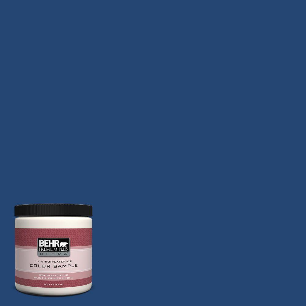BEHR Premium Plus Ultra 8 oz. #S-H-580 Navy Blue Interior/Exterior Paint Sample