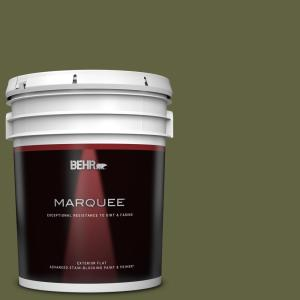 Behr Marquee 5 Gal T11 16 Fjord Flat Exterior Paint Primer 445305 The Home Depot