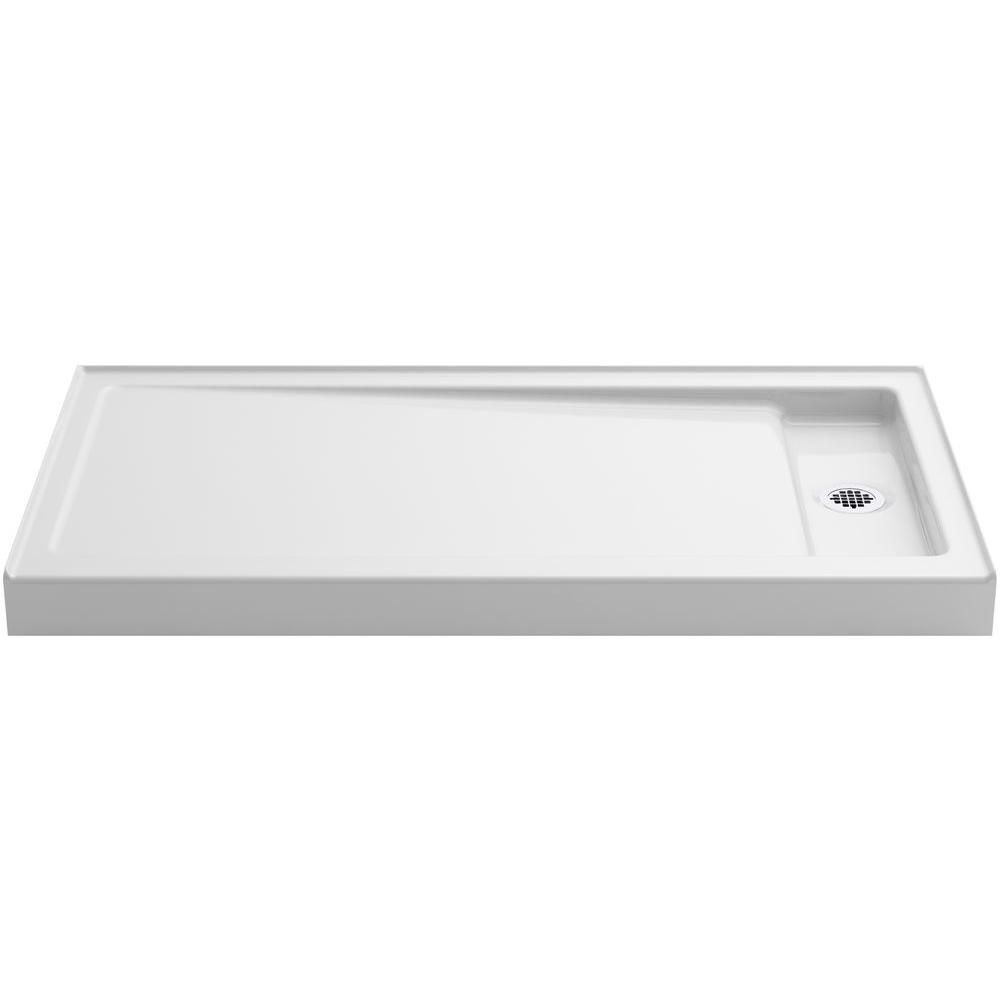 Bellwether 60 in. x 32 in. Single Threshold Shower Base in