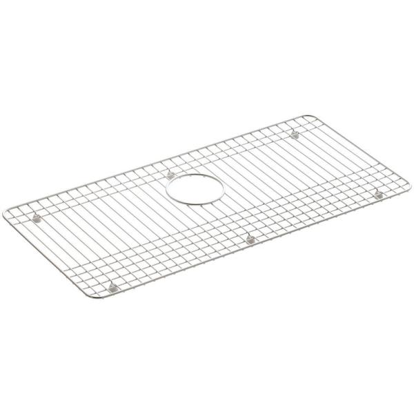 Dickinson 27-1/2 in. x 13-1/4 in. Bottom Sink Bowl Rack in Stainless Steel