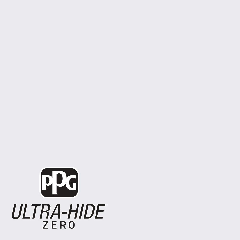 PPG 1 gal. #HDPCN29U Ultra-Hide Zero Crystal Clear White Flat Interior Paint