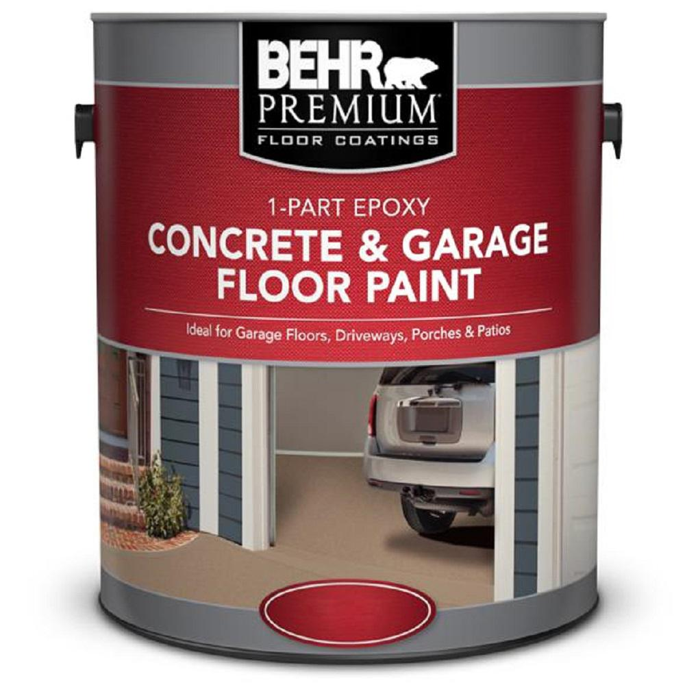 BEHR Premium 1 Gal. White 1-Part Epoxy Concrete And Garage