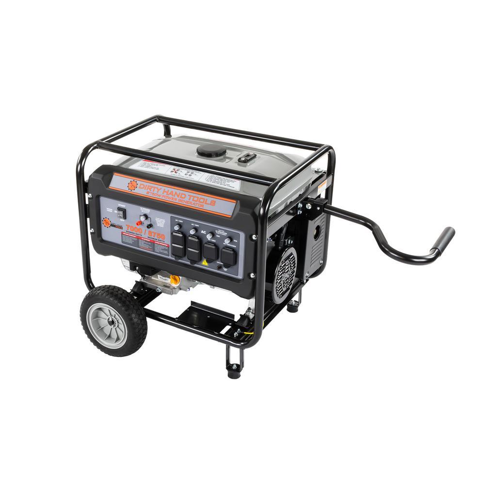 Dirty Hand Tools 7,000-Watt Gas Powered Electric Start Portable Generator