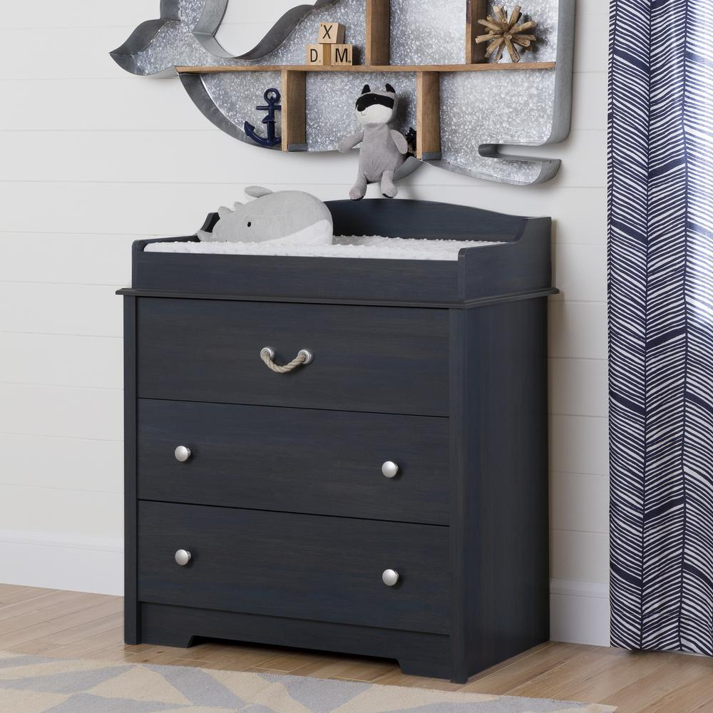 Bon South Shore Avirorn 3 Drawer Blueberry Changing Table
