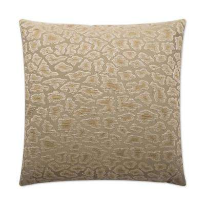 Cabenet Grey Feather Down 24 in. x 24 in. Standard Decorative Throw Pillow