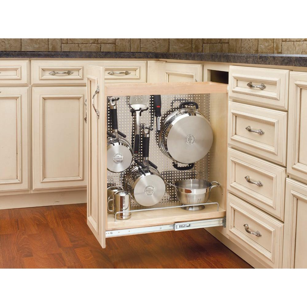 Beautiful Kitchen Base Cabinet Pull Outs Part - 4: Rev-A-Shelf 25.5 In. H X 8 In. W X 22.5 In. D Pull-Out Wood Base Cabinet  Organizer With Stainless Steel Panel-444-BC-8SS - The Home Depot