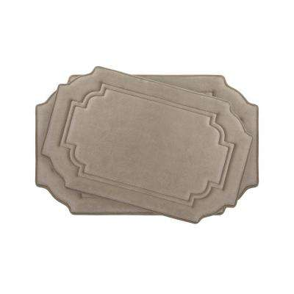 Calypso Linen Memory Foam 2-Piece Bath Mat Set