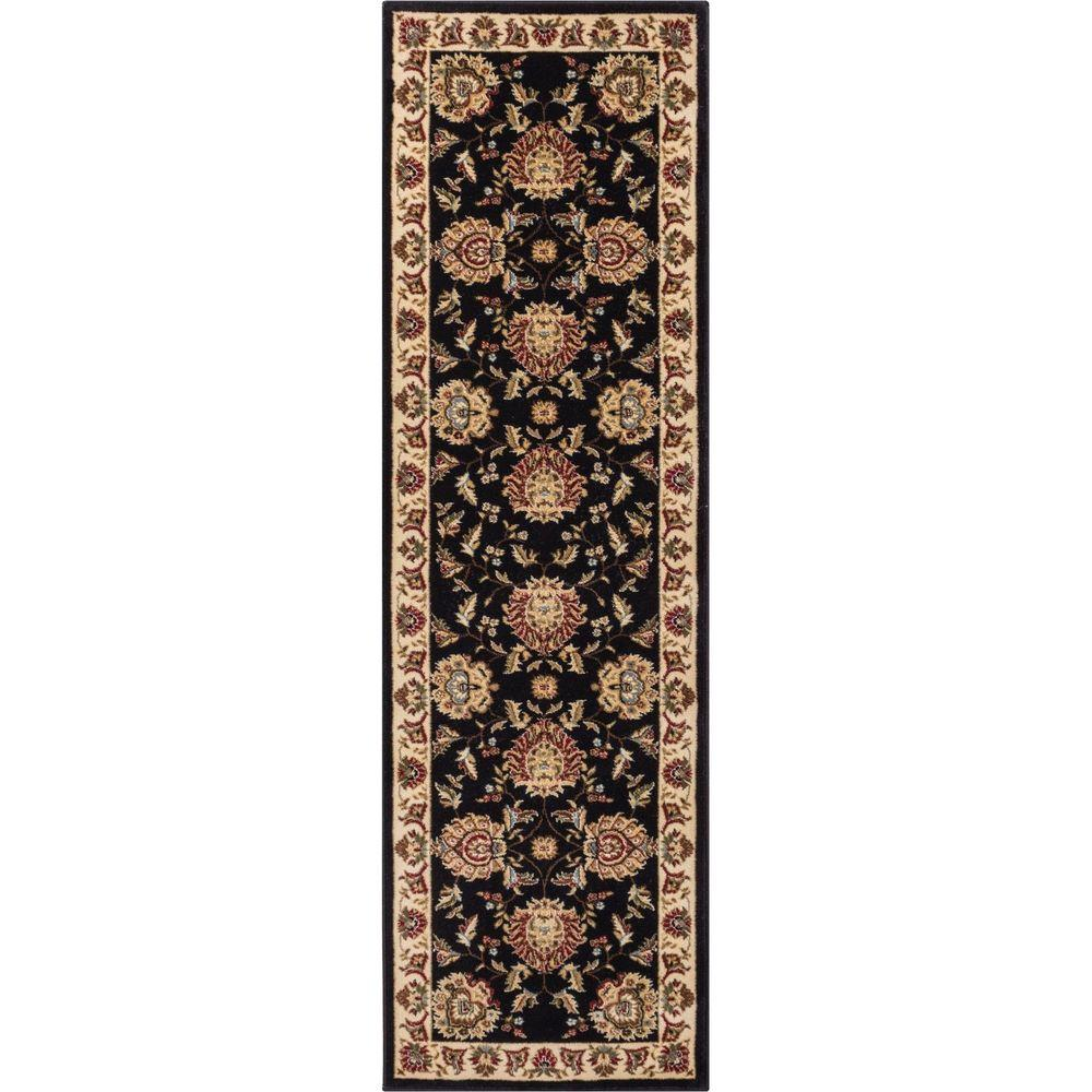 Timeless Abbasi Black 2 ft. 7 in. x 12 ft. Traditional