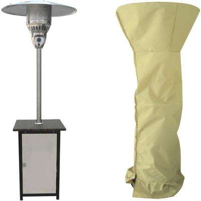 7 ft. 41,000 BTU Square Stainless Steel Patio Heater with Weather-Protective Cover