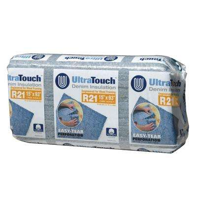 15 in. x 93 in. R21 Denim Insulation (12-Bags)