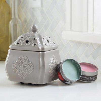 8.5 in Chateau Candle Breeze with Candle Breeze Tin Bundle