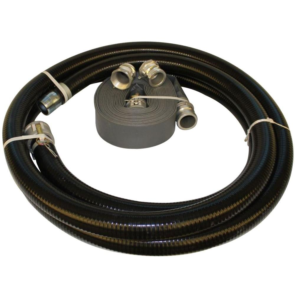 Wacker 3 in. Hose Kit for Trash, Diaphragm and Centrifugal Pumps