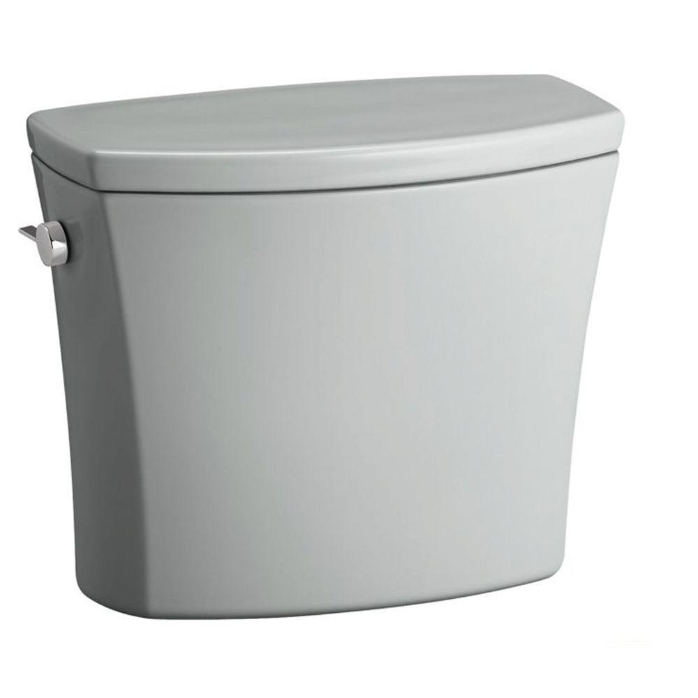 KOHLER Kelston 1.28 GPF Single Flush Toilet Tank Only with AquaPiston Flushing Technology in Ice Grey