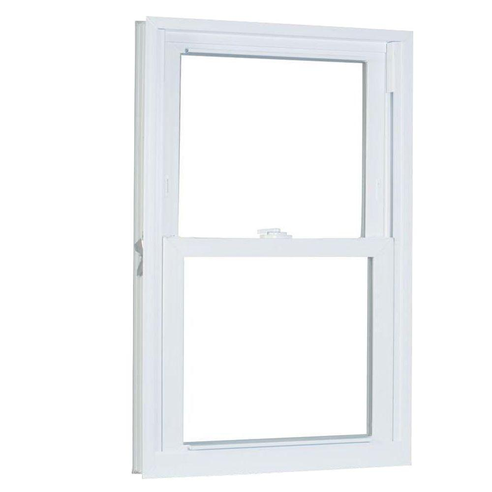 American Craftsman 29.75 in. x 45.25 in. 70 Series Double Hung Buck PRO Vinyl Window - White