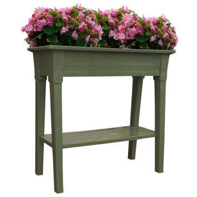36 in. x 15 in. Sage Deluxe Resin Garden Planter