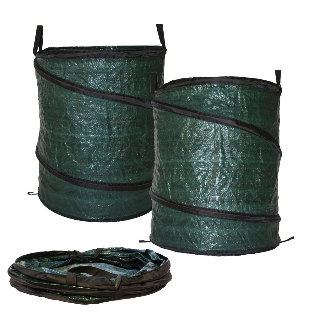 30 Gal Collapsible Reusable Pop Up Lawn Garden Leaf Bag