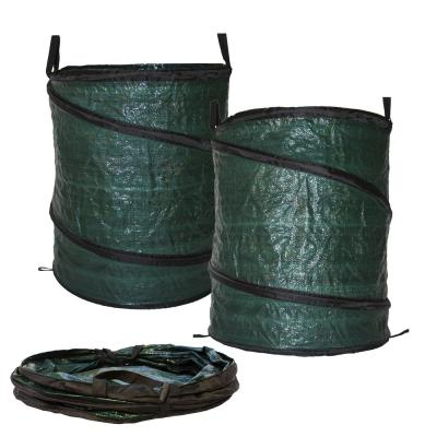 30 Gal Collapsible Reusable Pop Up Lawn Garden Leaf Bag Trash