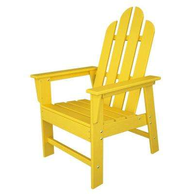 Long Island Lemon All-Weather Plastic Outdoor Dining Chair