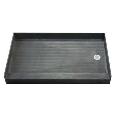 37 in. x 54 in. Single Threshold Shower Base with Right Drain