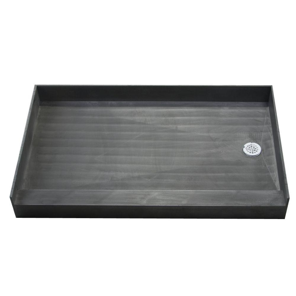 Redi Base 37 in. x 60 in. Single Threshold Shower Base with Right Drain