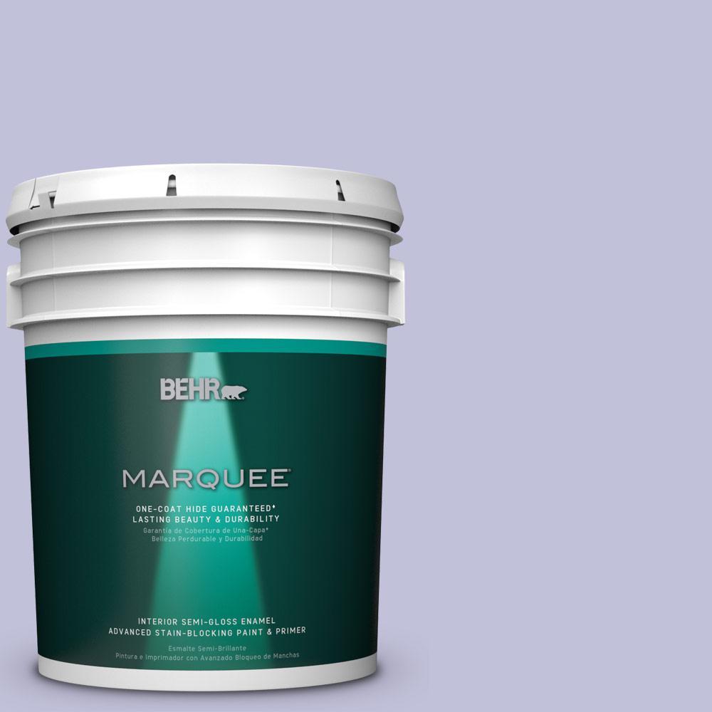 5 gal. #M550-3 Foxglove One-Coat Hide Semi-Gloss Enamel Interior Paint