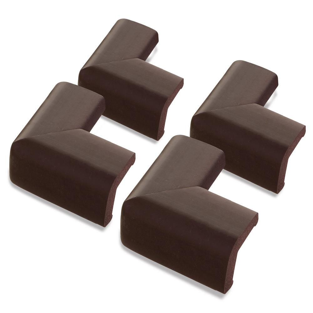 Foam Corner Protectors Brown, (4-Pack)