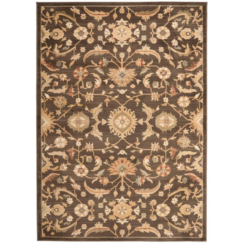 Safavieh Heirloom Brown/Gold 5 ft. 3 in. x 7 ft. 6 in. Area Rug