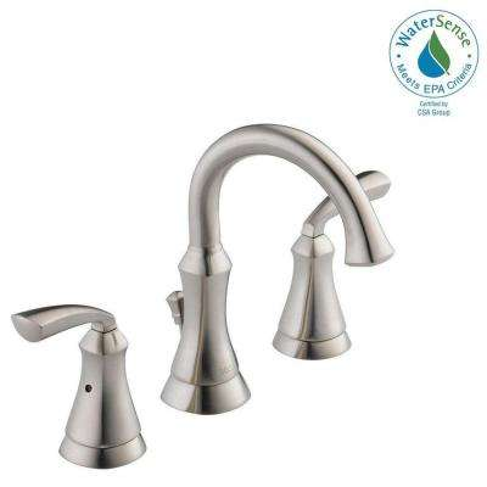Widespread 2-Handle Bathroom Faucet in Brushed Nickel
