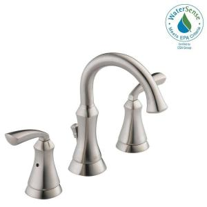 Delta Mandara 8 inch Widespread 2-Handle Bathroom Faucet in Brushed Nickel by Delta