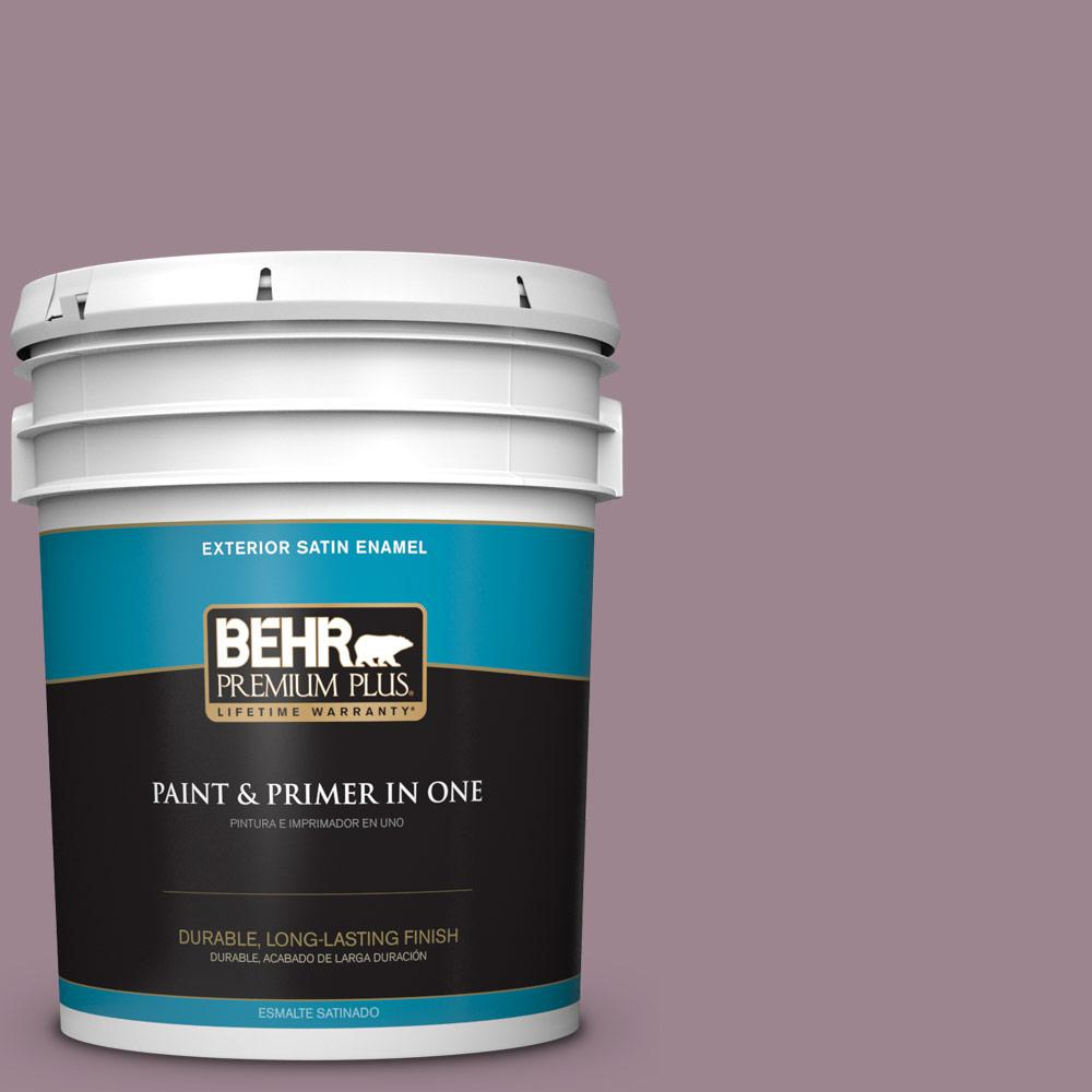 5 gal. #PPU17-14 Dream Sunset Satin Enamel Exterior Paint
