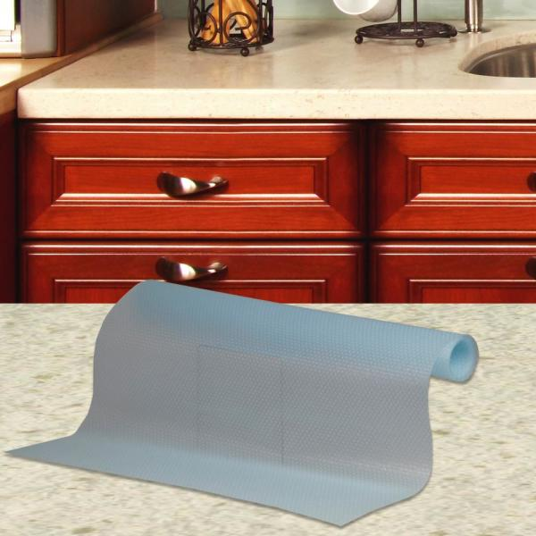Home Basics 18 In X 60 Clear Dots, Kitchen Cabinet Shelf Liner Home Depot