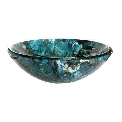 Cliffside Glass Vessel Sink in Multi Colors
