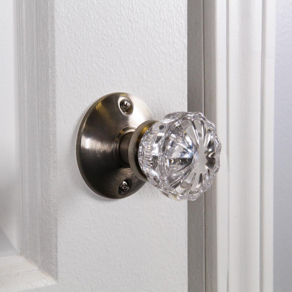 Sellers Glass Knob with Threaded End and Insert