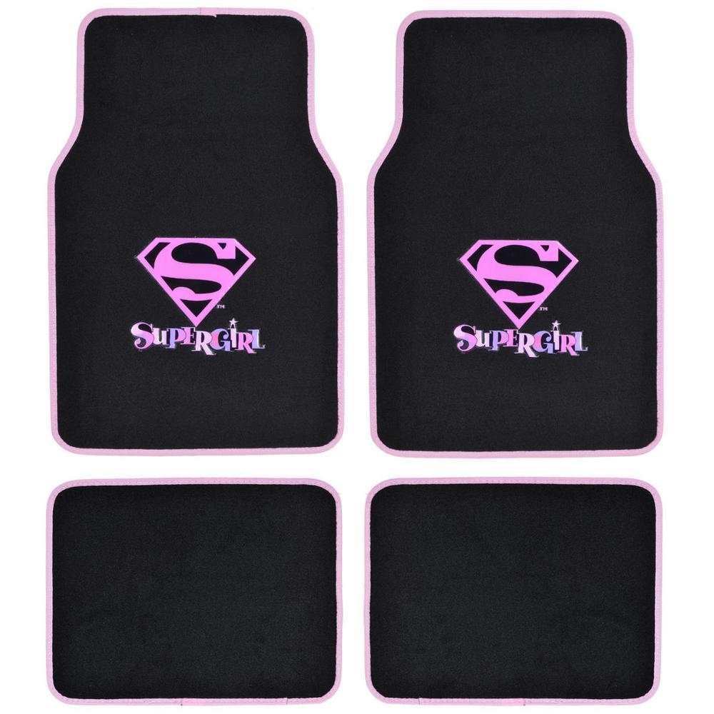 Original Supergirl Wbmt-1621 Carpet 4 Pieces Car Floor Ma...