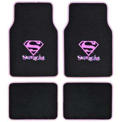 Original Supergirl WBMT-1621 Carpet 4 Pieces Car Floor Mats