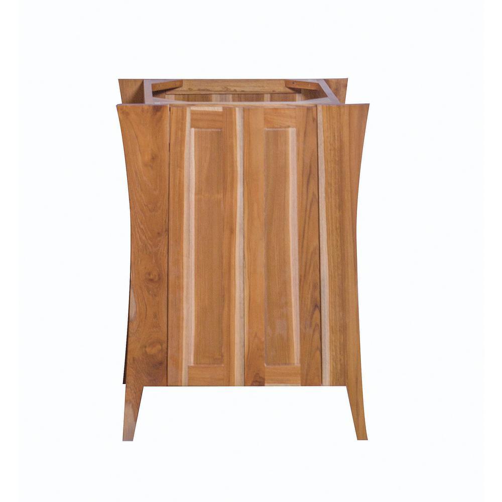 Curvature 24 in. L Teak Vanity Cabinet Only in Natural Teak