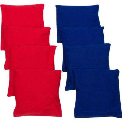 4 in. Red and Blue Starter Set Cornhole Bean Bags (8-Set)
