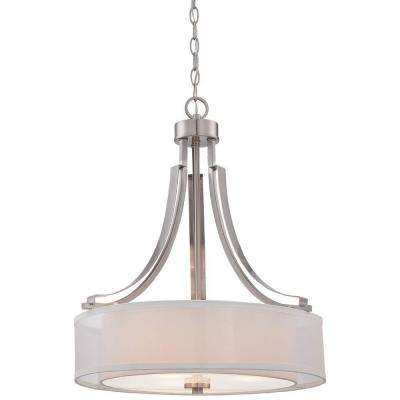 Parsons Studio 3-Light Brushed Nickel Pendant