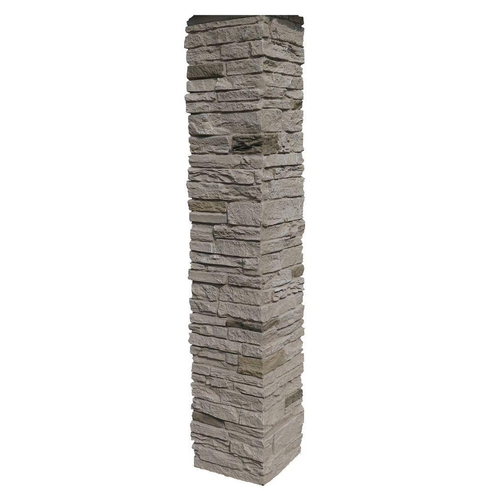 NextStone Slatestone 8 in. x 8 in. x 41 in. Sahara Faux Polyurethane Stone Post Cover