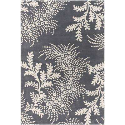 Rowe Grey/Ivory 7 ft. 9 in. x 10 ft. 6 in. Indoor Area Rug