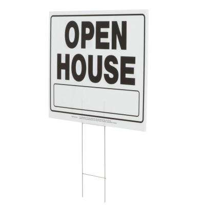 20 in  x 24 in  Corrugated Plastic Open House Sign
