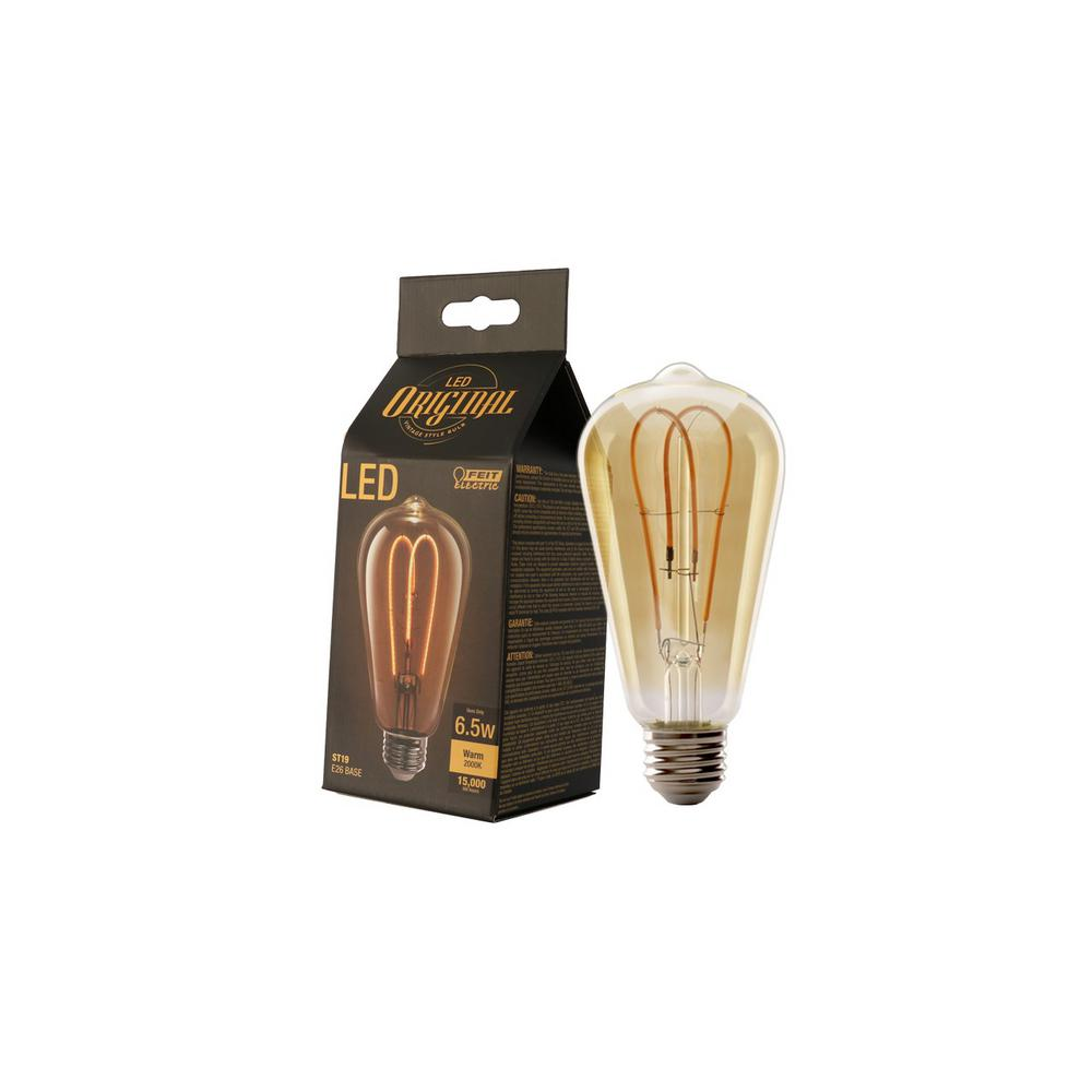 Feit Electric 40w Equivalent Soft White A15 Dimmable: Feit Electric 40W Equivalent Soft White ST19 Dimmable LED