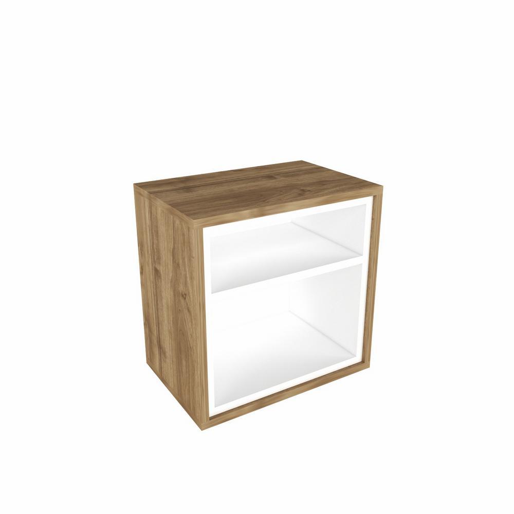 Sage Walnut Modern Side Table