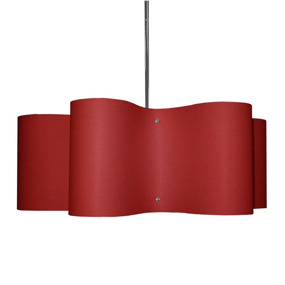 Radionic Hi Tech Zulu 3-Light Red Pendant