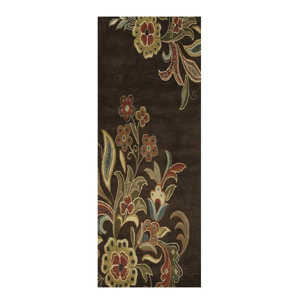 home decorators collection tara chocolate 2 ft 6 in x 8