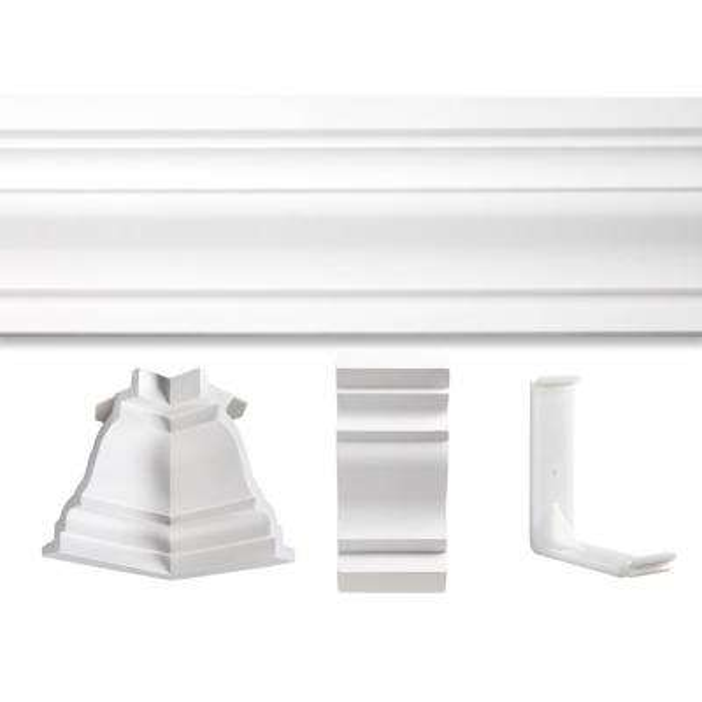 3/4 in. x 20 ft. x 13 ft. St. James Polyurethane Crown Moulding Room Kit